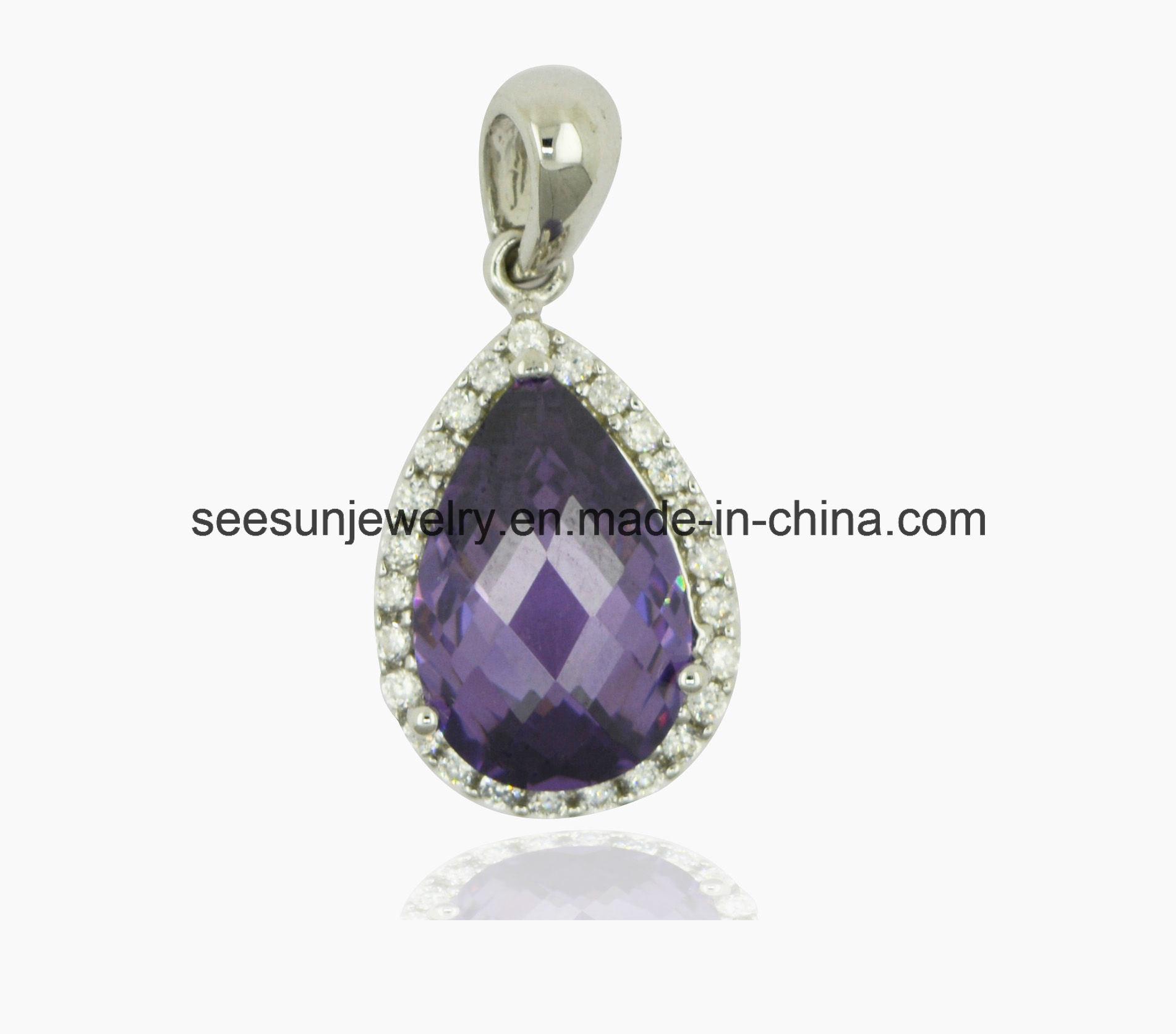 925 Silver Jewelry Fashion Gemstone Pendant for Women