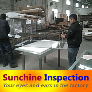 Glass Dining Table and Chair Inspection Service and Quality Control in China