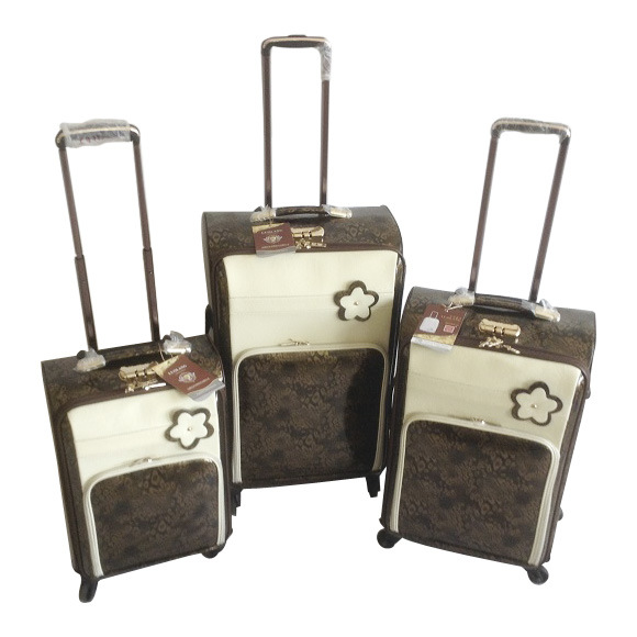 PU Leather Bags Luggage Trolley Case Suitcase Jb-D005