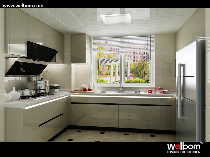 China High Gloss Painted Kitchen Cabinets Modern Photos & Pictures