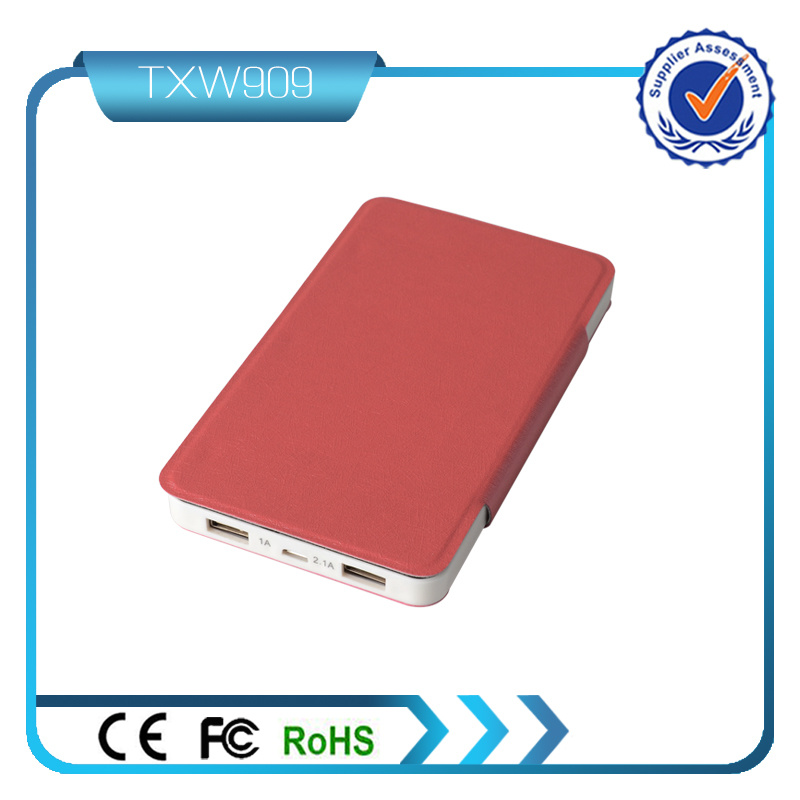 Colorful Dual USB Output 5V 3.1A USB Charger Power Bank