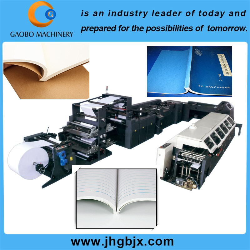 Web Flexographic Printing and Adhesive Binding Product Line for Exercise Book