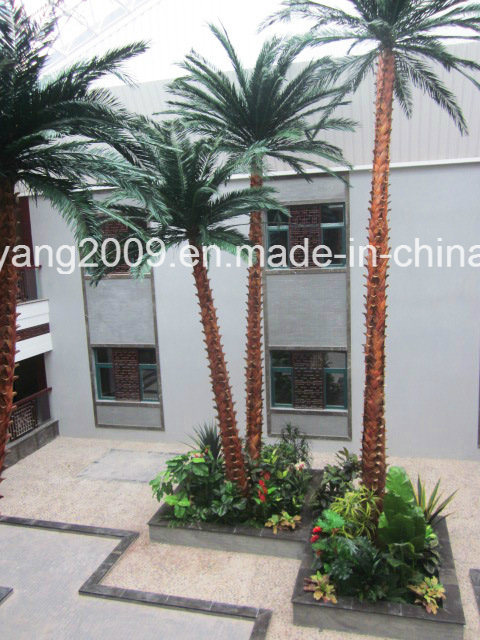 Factory Wholesale Hot Decorative Plastic Artificial Palm Tree