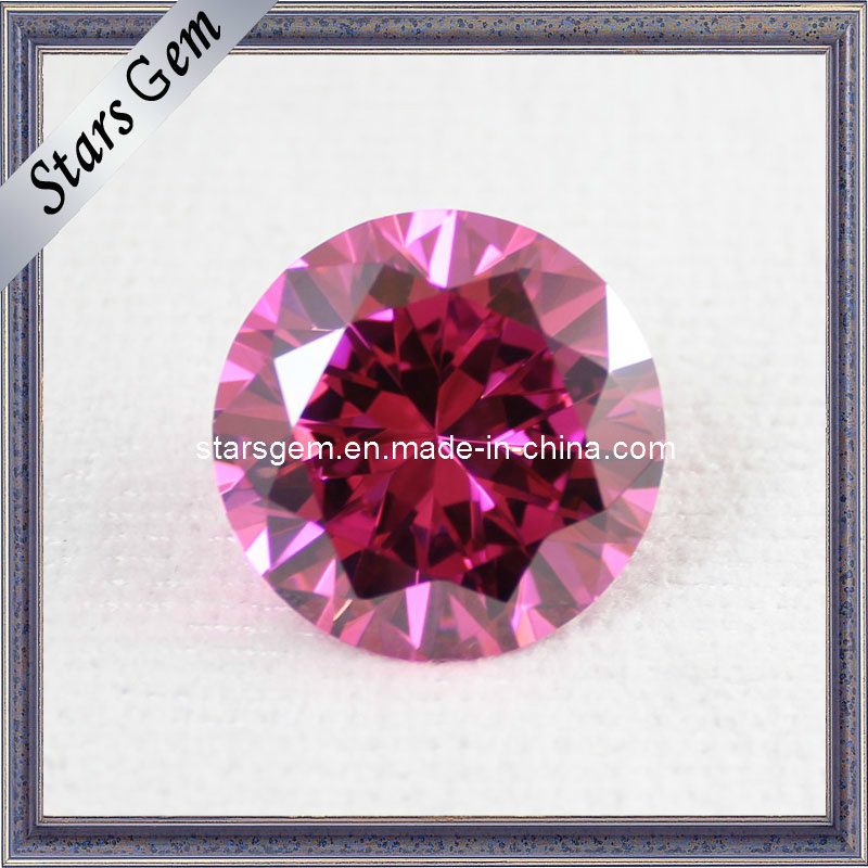 Brilliant Cut Pink Color CZ Loose Beads