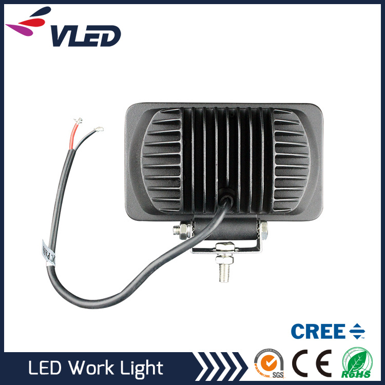 24W Spotlight LED Work Light Square Fog Driving DRL Offroad SUV