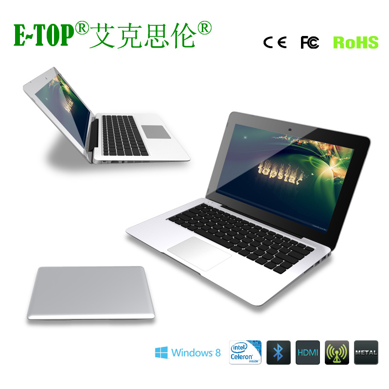 11.6 Inch Dual Core Laptop TFT Screen Support Window 8