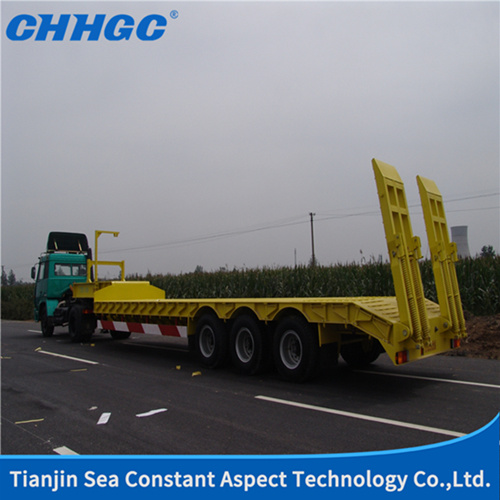ISO CCC Approved 3 Axles Low Bed Trailer