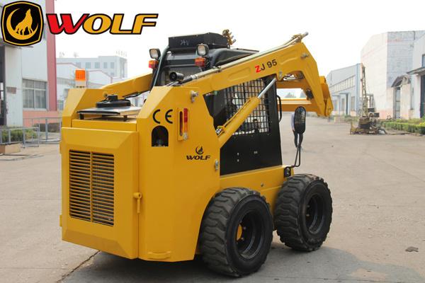 China Bobcat Loader Rated Load 1200kg Engine Power 95HP Skid Steer Loader (ZJ95)