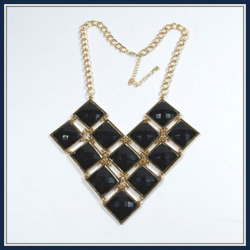 New Item Resin Square Pendant Necklace Fashion Jewellery