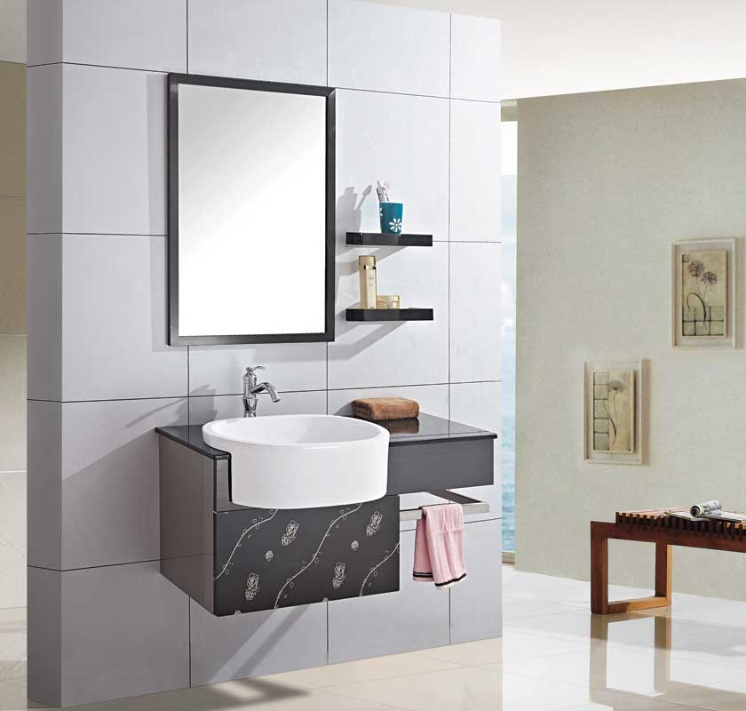 stainless steel bathroom furniture bathroom cabinet bathroom vanity yl