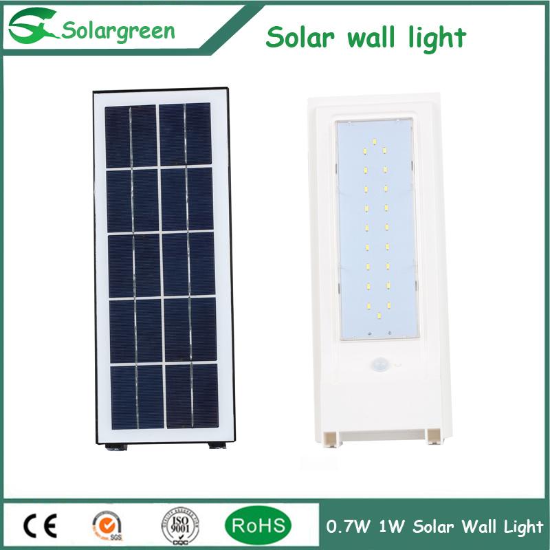 5W Amazon Online Solar LED Wall Lamp Fence Parking Yard Street Garden Light