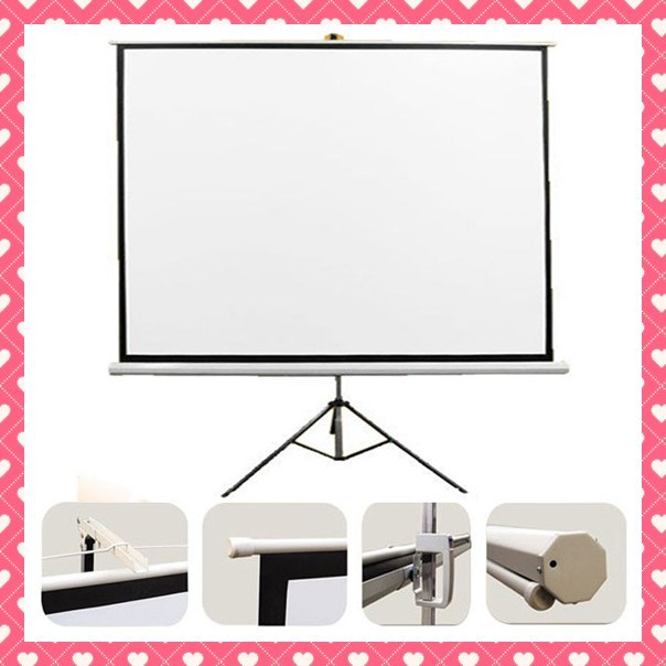 4: 3 16: 9 1: 1 100 Inch Tripod Standing Projector Screen