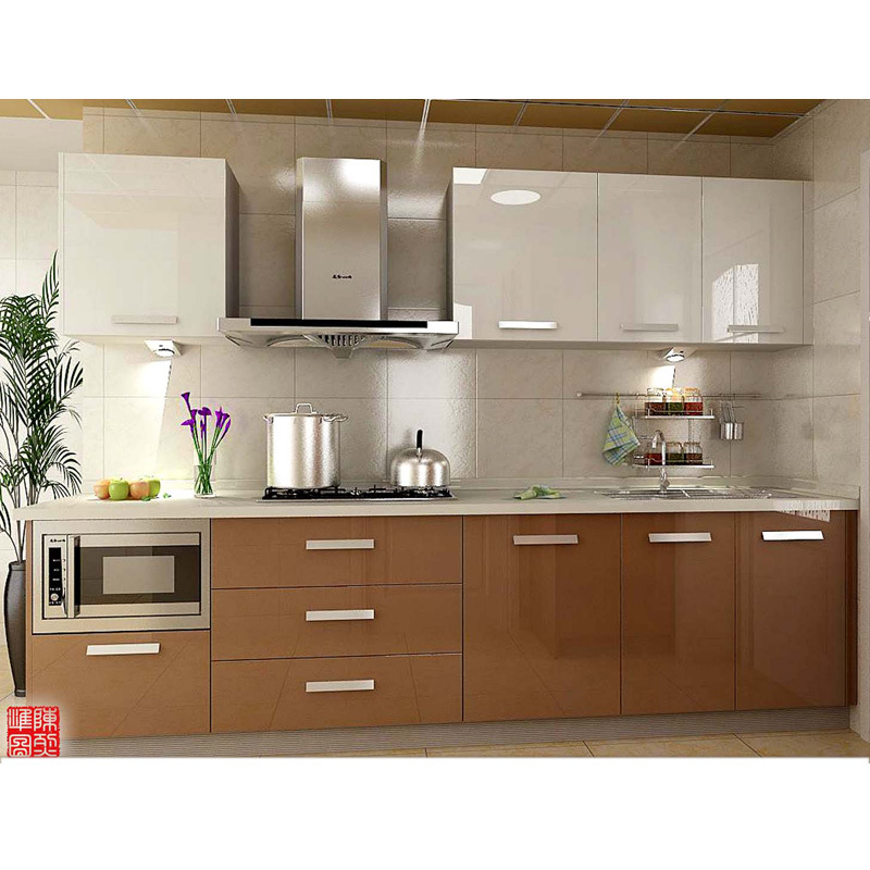 Popular Acrylic Kitchen Cabinet In Vietnam New Arrival Furniture OP13