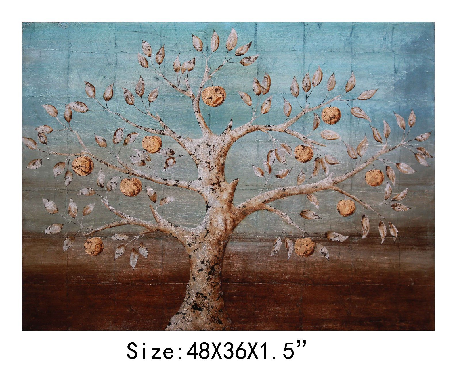 Absract Decorative Oil Tree Painting for Bedroom on Wall (LH-700045)