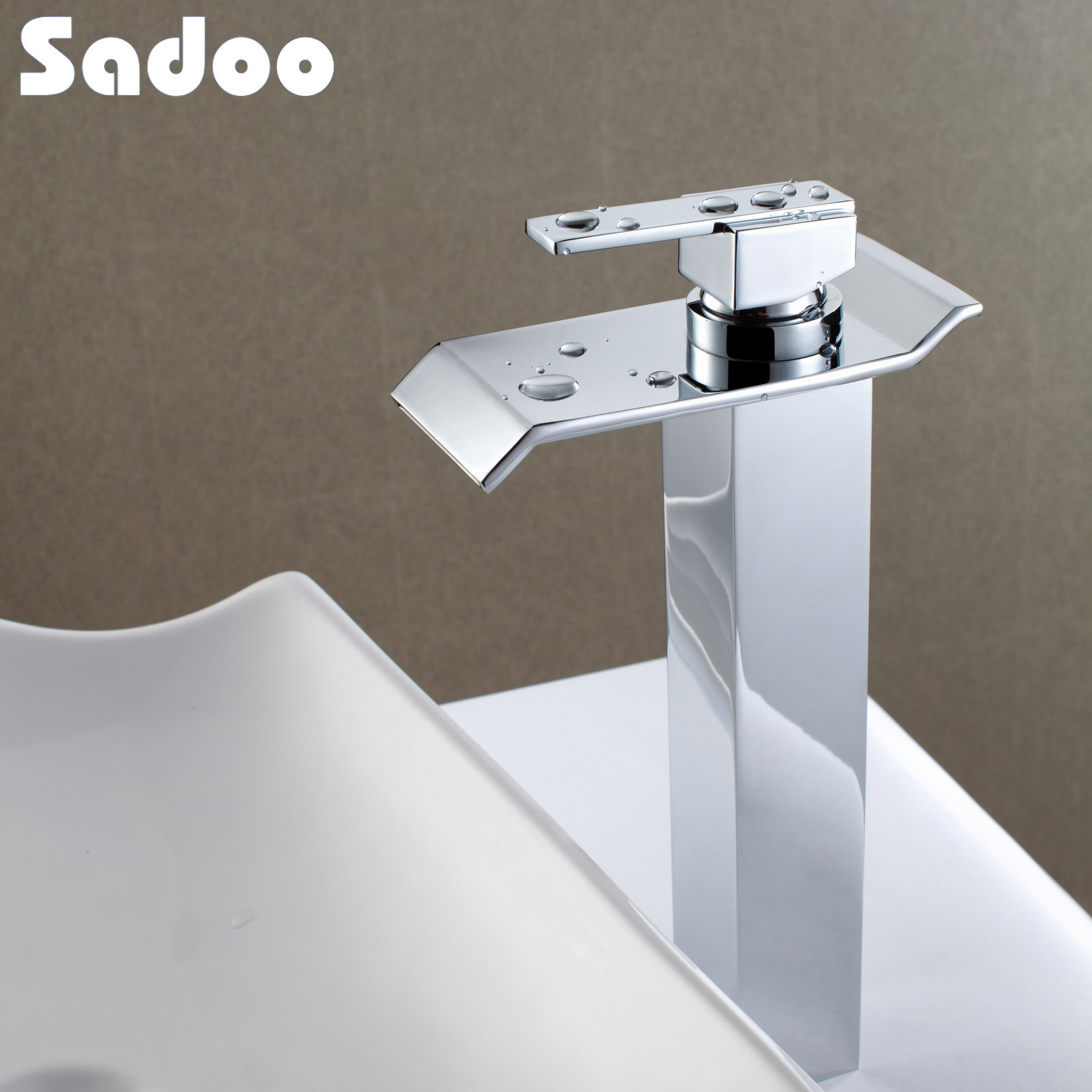 Water Faucet Bathroom : China Bathroom Brass Water Fall Basin Faucet SD-1003-1012 Photos ...