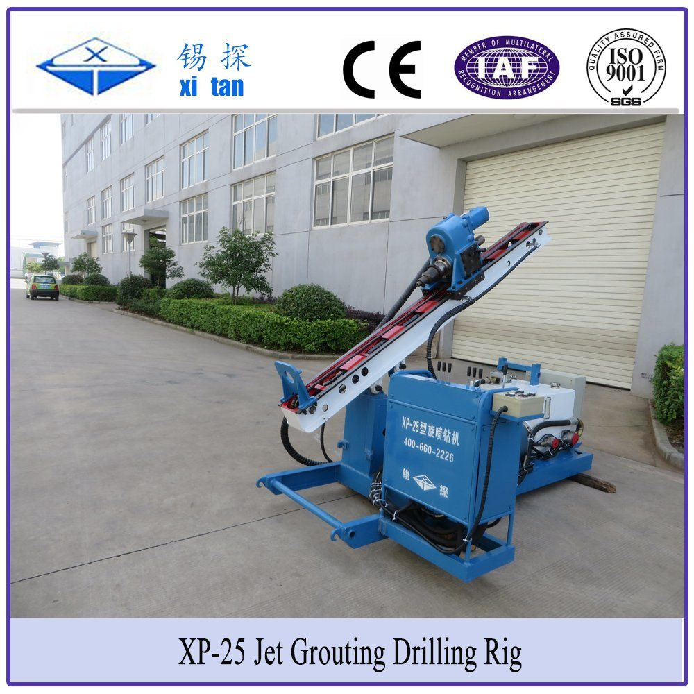 Xitan XP25 Skid Chassis Jet Grouting Drilling Rig Jet Grouting Pump Piling Machine