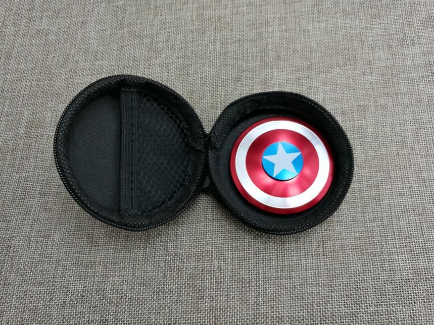 Creative Captain America Shield Hand Spinner Iron Man Fidget Alloy Puzzle Fidget Spinner EDC Autism Adhd