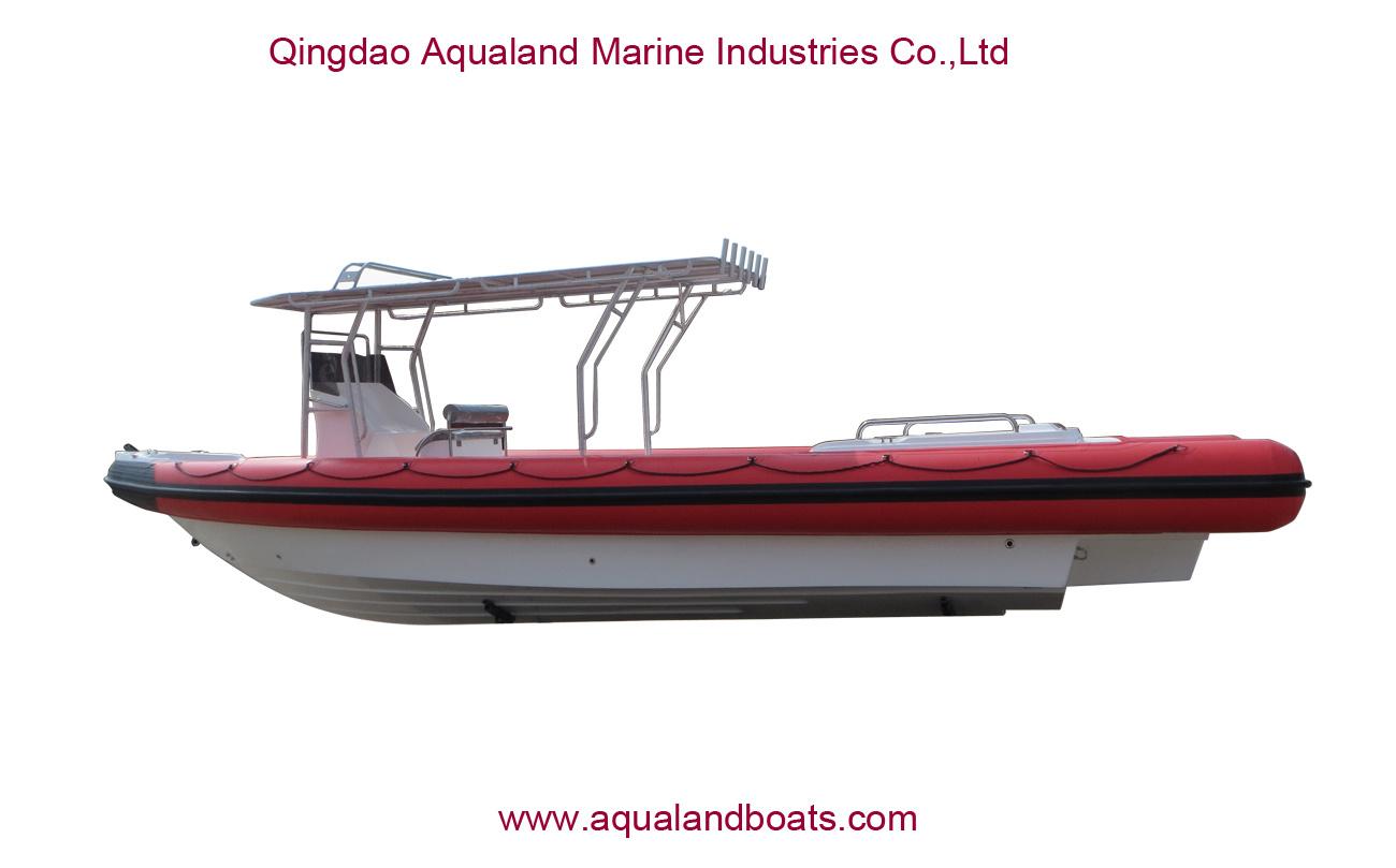China Aqualand 35feet 10.5m Rigid Inflatable Military Patrol Boat/Rib Rescue Diving Boat (RIB1050)