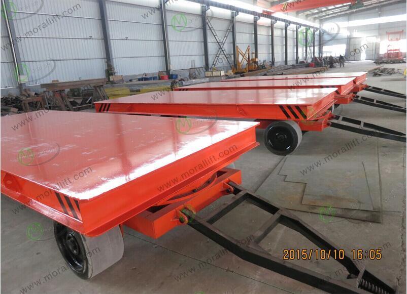 Towed Industrial Flat Trolley for Welding Shop (KP)