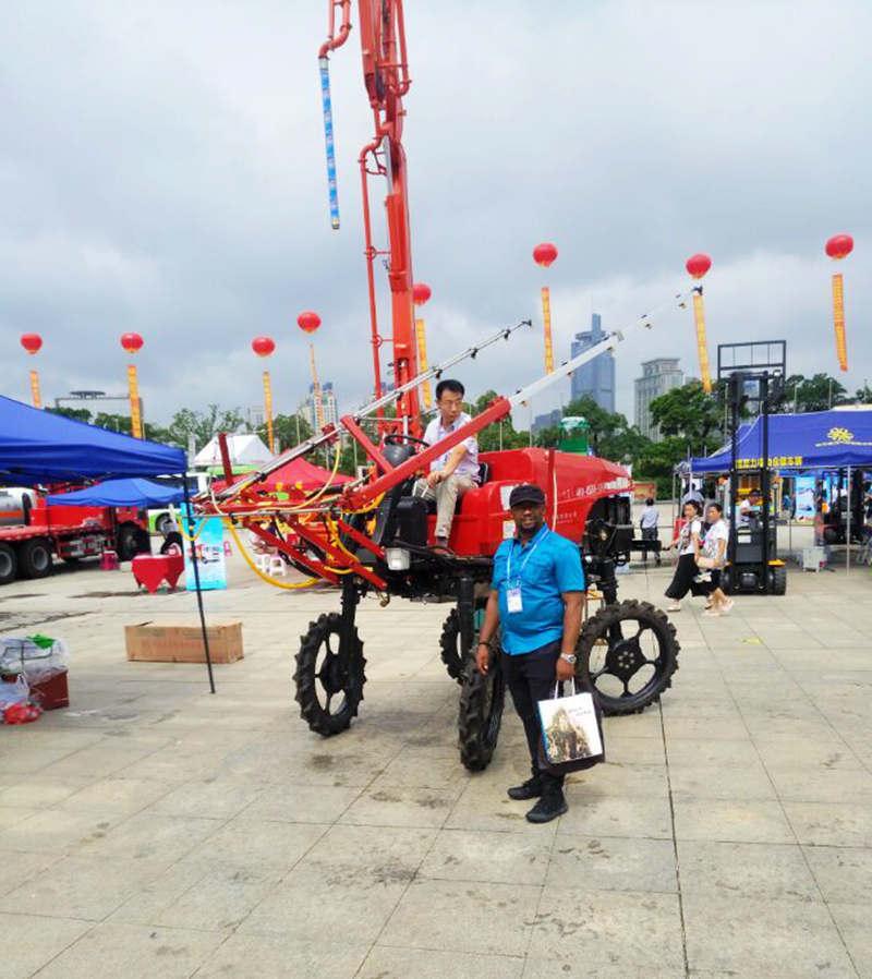 Aidi Brand 4WD Hst Diesel Engine Machine Boom Sprayer for Amphibious