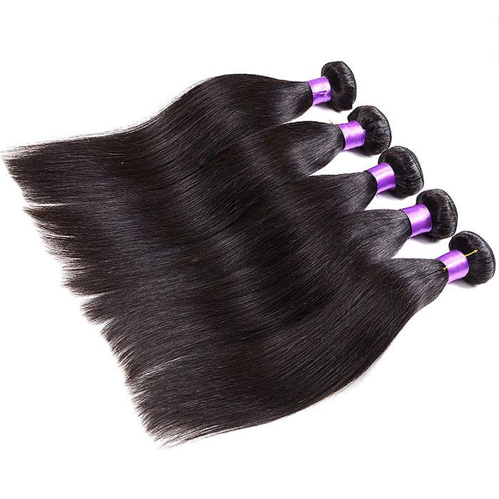 Grade 7A Virgin Brazilian Straight Hair Bundles Natural Black Brazilian Virgin Hair Straight Grace Straight Hair