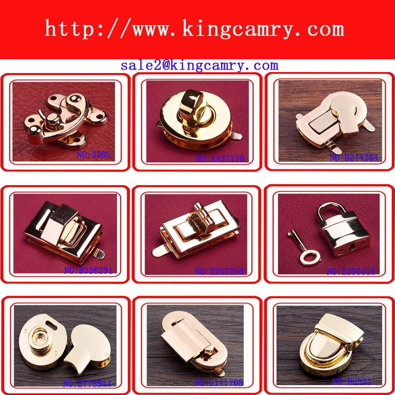 Handbag Lock Bag Lock Turn Lock Press Lock Case Lock Luggage Lock Combination Lock Bag Closure Padlock Alloy Lock Metal Lock Shoe Closure