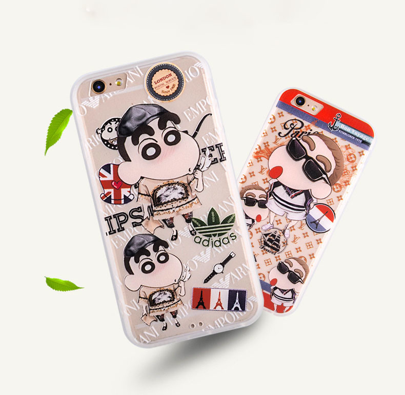 3D Crayon Shin-Chan Cartoon TPU+PC Phone Case for iPhone 6/6 Plus