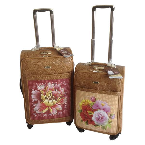 PU 4 Wheels Leather Bags Trolley Case Jb-D006