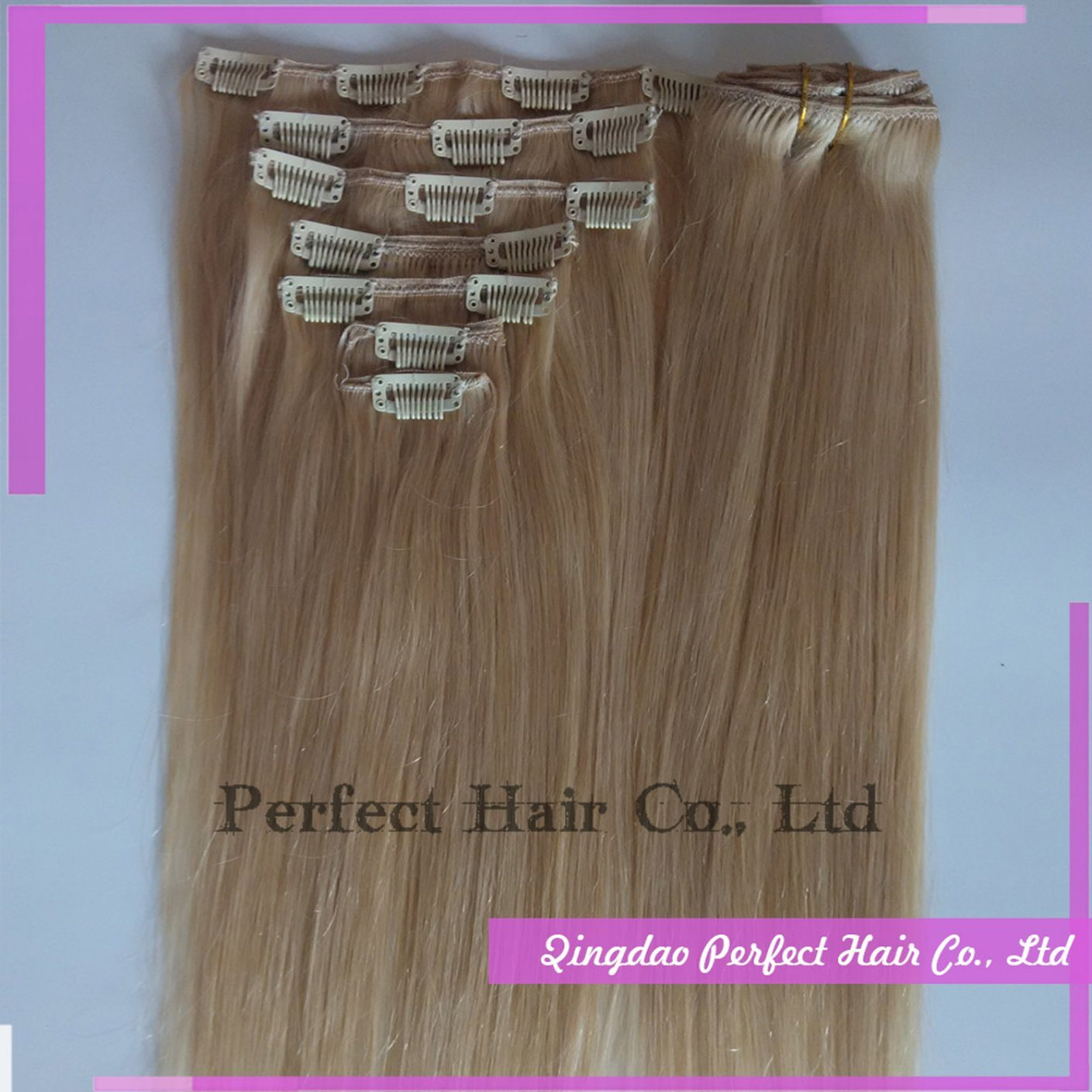 Clip in Remy Brazilian Human Hair Extensions Full Head