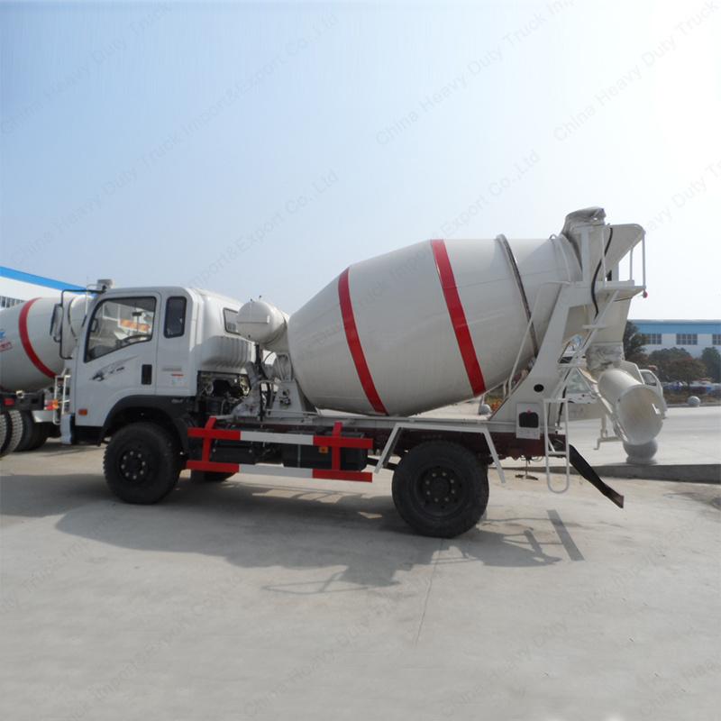 Sinotruk Light Duty Cement Mixer 3m3 Concrete Transport Truck