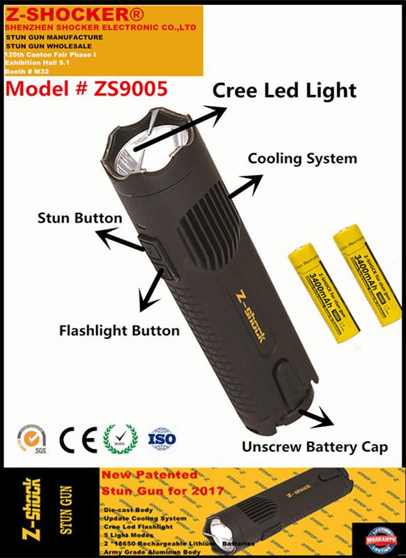 New Patented Stun Gun with CREE LED Flashlight