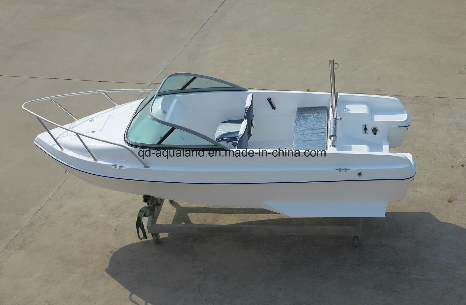 China Aqualand 15feet 4.6m Sports Motor Boat/Bowrider Speed Boat/Fiberglass Fishing Boat (150br)