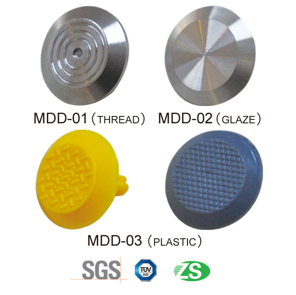 Various Color Safety Rubber Road Tactile Tiles Studs