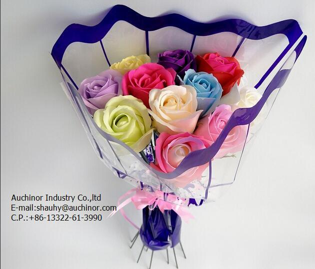 Plastic Floral Packaging Bag Wrapping Bag Single Rose Flower Sleeve