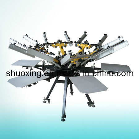 Manual Carousel Textile Screen Printing Machine