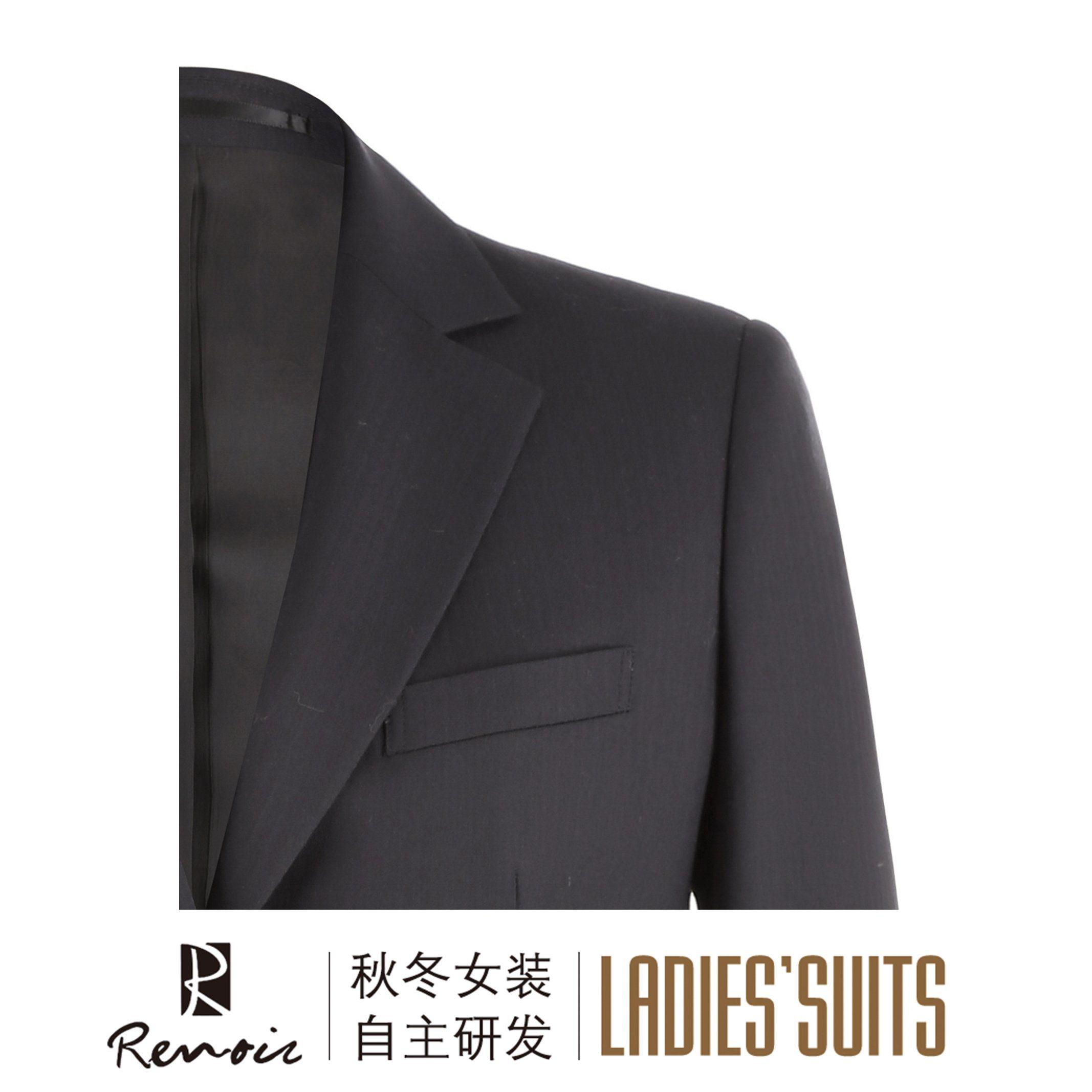 OEM 2 Piece Notch Lapel Half Canvas Women′s Business Suit