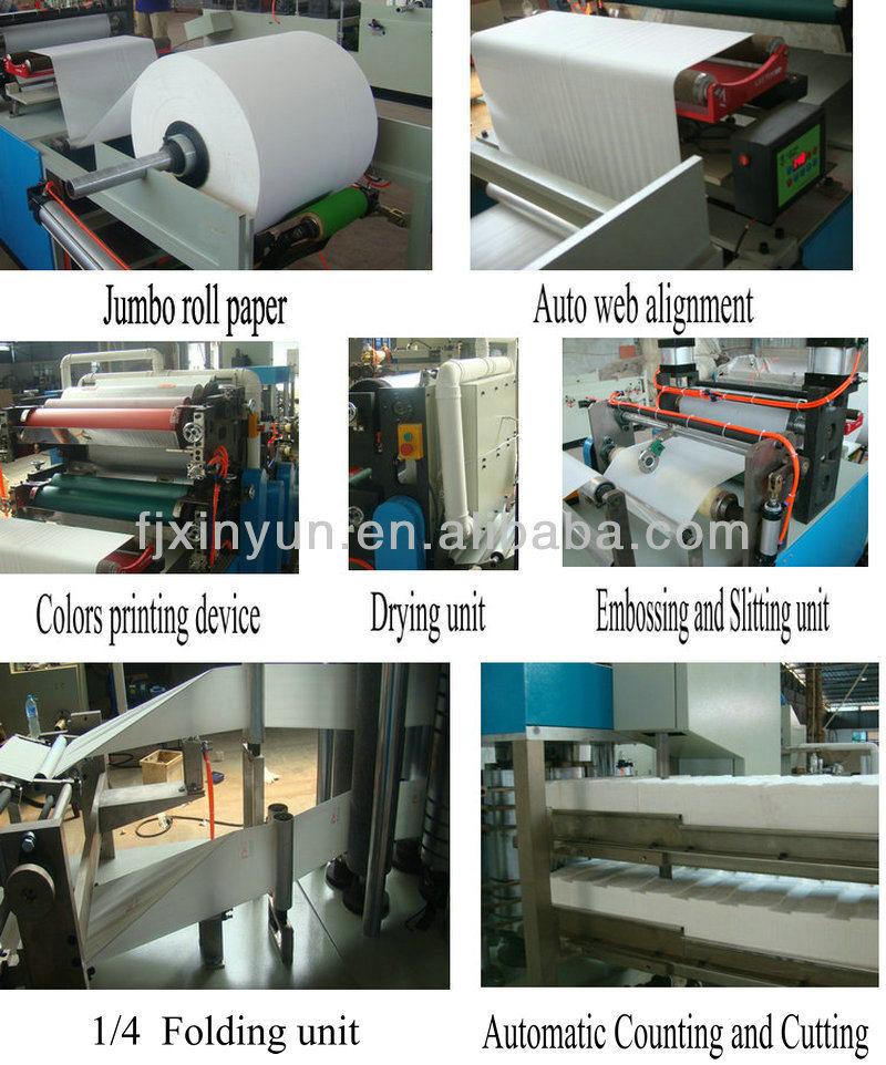 Good Price High Speed Automatic Printing Tissue Paper Napkin Making Machine