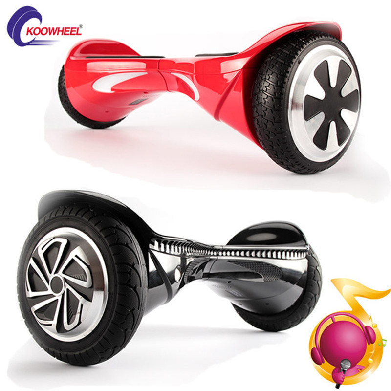 8 Inch Two Wheel Self Balance Electric Motor Scooter with Bluetooth for Adults