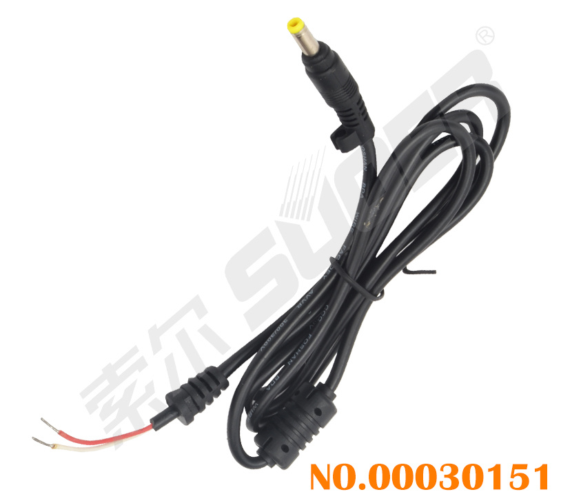 Suoer Factory Price DC Power Cable Laptop DC Cable (DC-4.8*1.7)