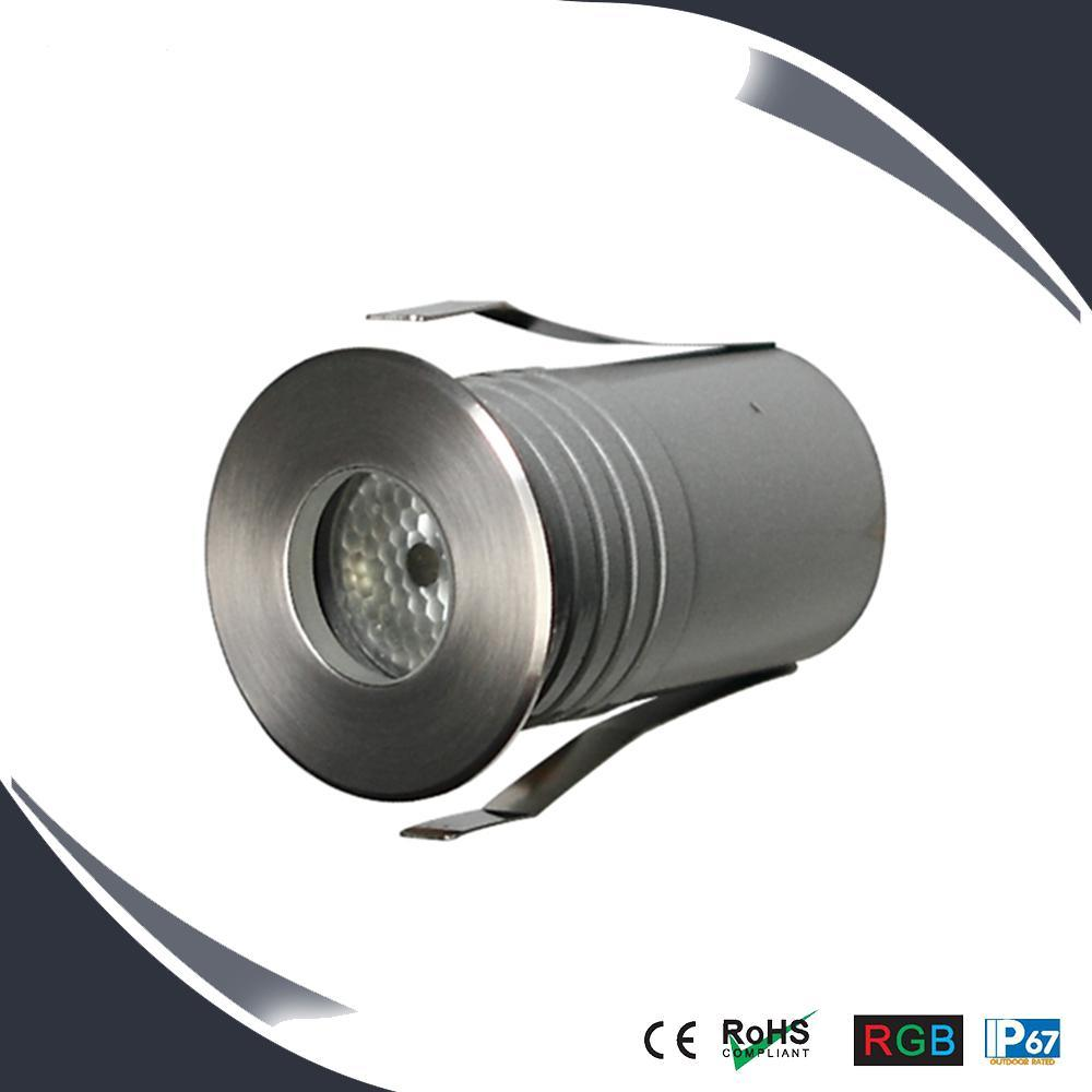 3W Waterproof LED Underground Light, RGB Inground Light, Deck Light