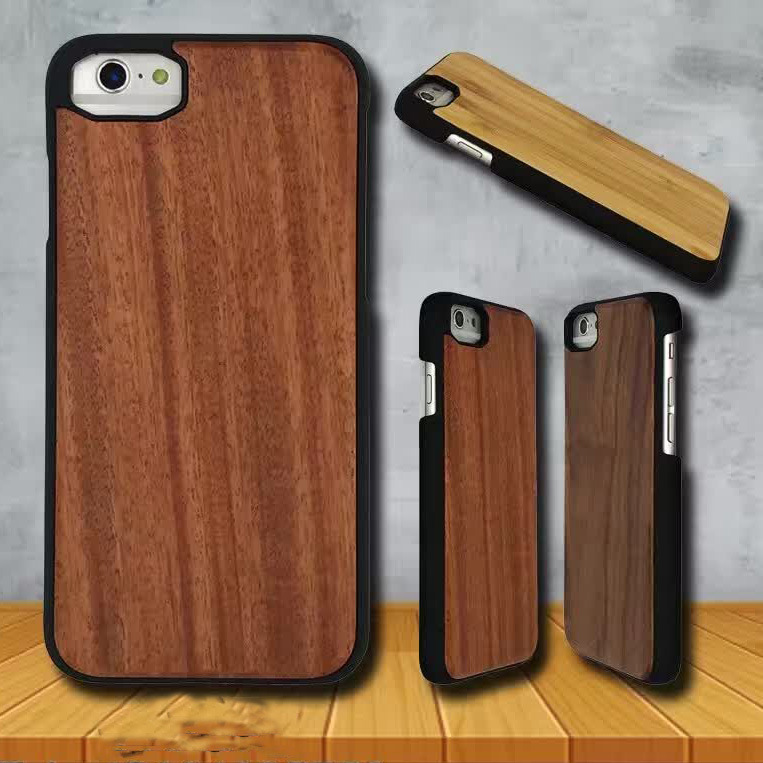 Natural Wood iPhone 7 6 Cases with Rubberized PC Basic