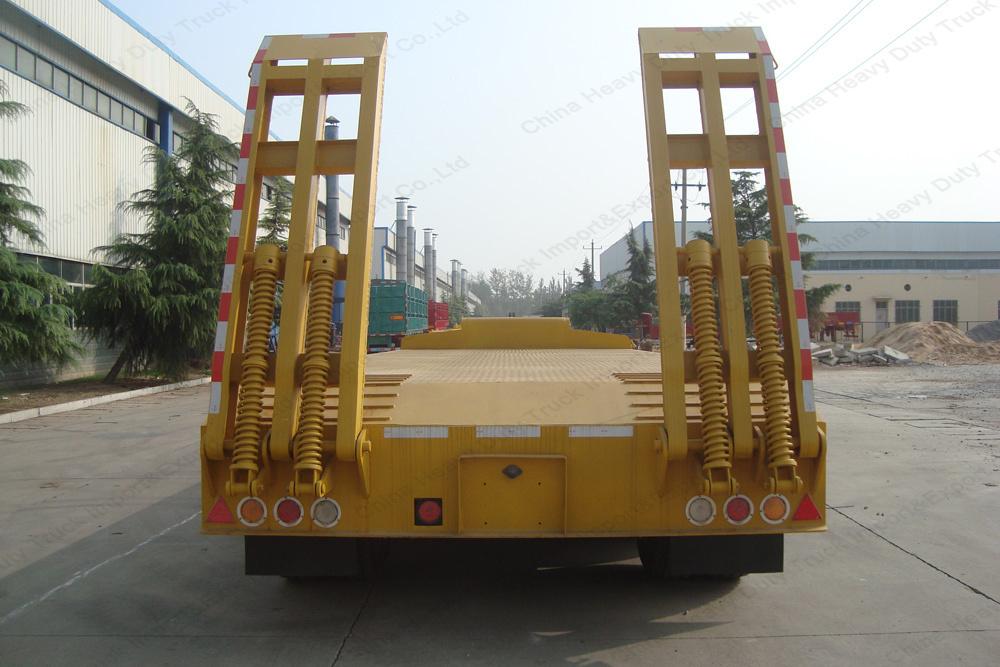 3 Axles 13m Length 60tons Gooseneck Low Bed/Lowboy Trailer for Sale
