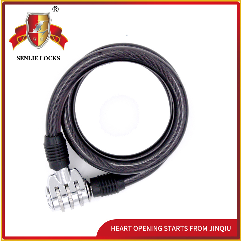 Jq8301-Q Safety High Quality Bicycle Lock Motorcycle Lock Spiral Password Lock
