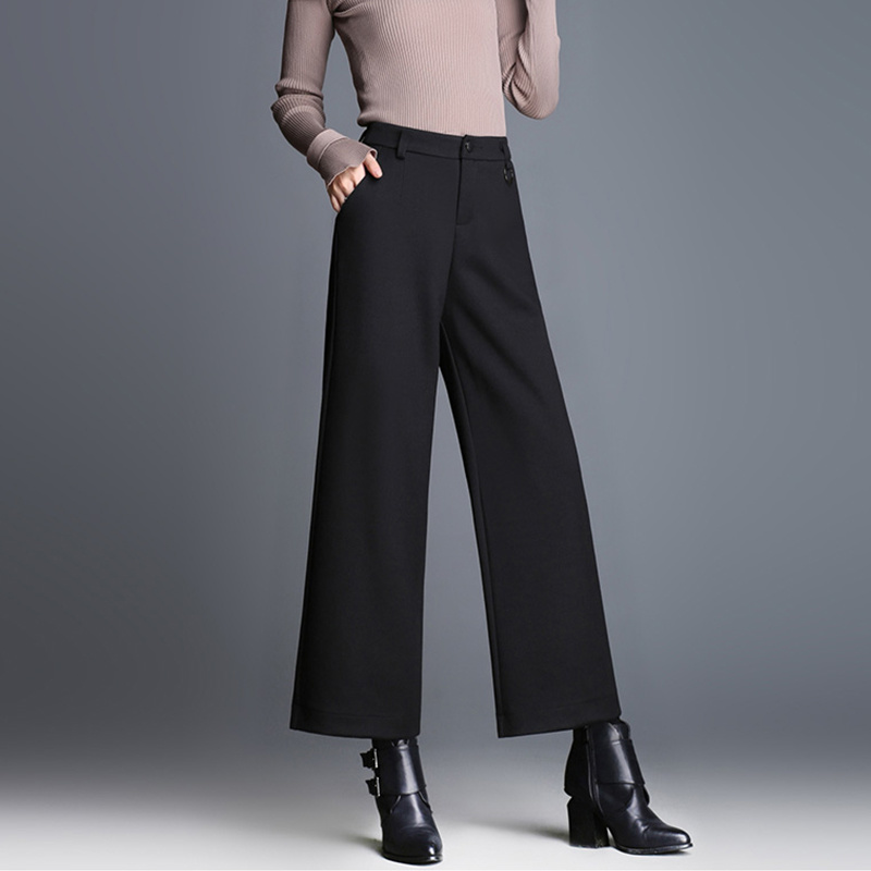 Elegant Casual High Waist Women Wide Leg Pants