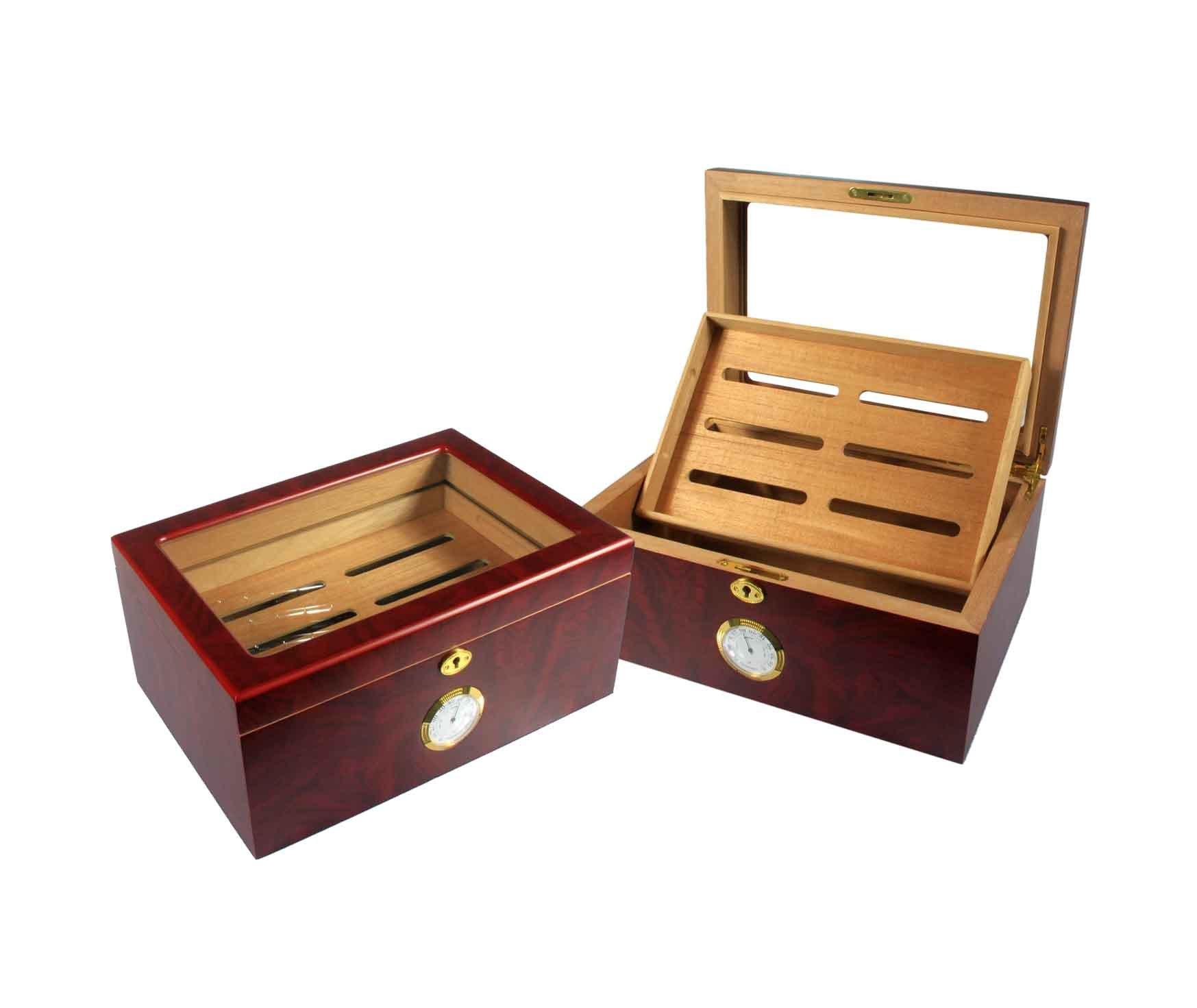 Wooden Humidor with Humidity Meter China Humidor Cigar Humidor #AD701E