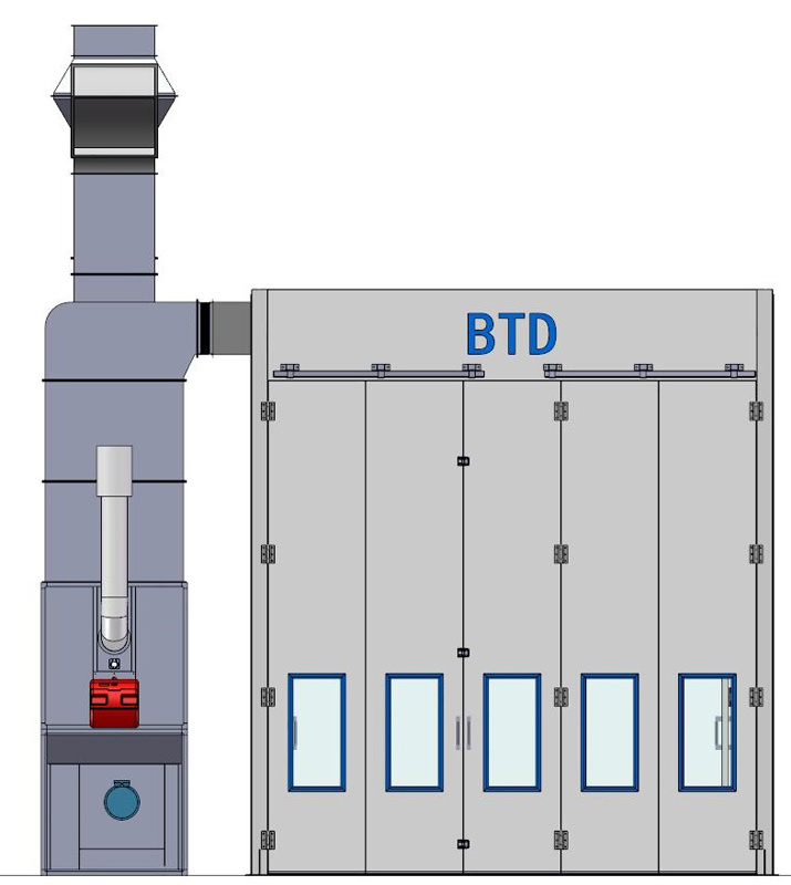 Popular Btd Bus Truck Spray Painting Booth with Ce