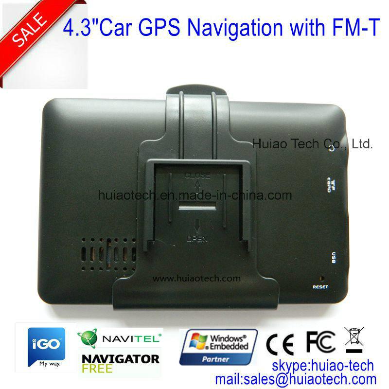 "Cheap 4.3"" Car Portablet in-Dash GPS Navigator with 128MB DDR, 4GB, FM, Bt, Tmc, ISDB-T TV, GPS Map GPS Navigation G-4306"