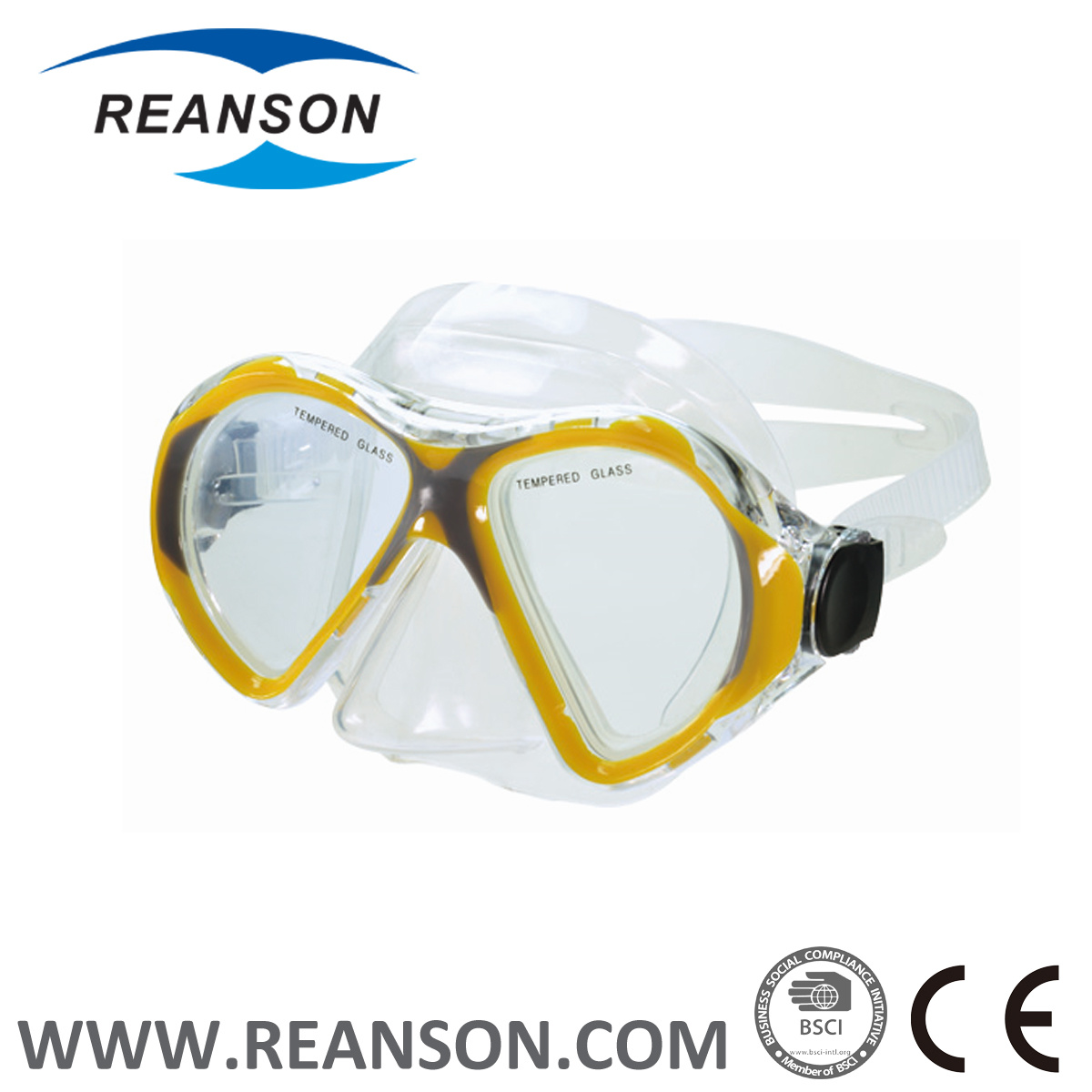 Full Face China Tempered Glass Diving Mask