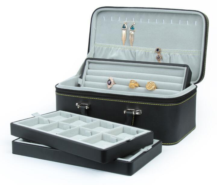 PU Leather High-End Jewelry Box for Storage and Display