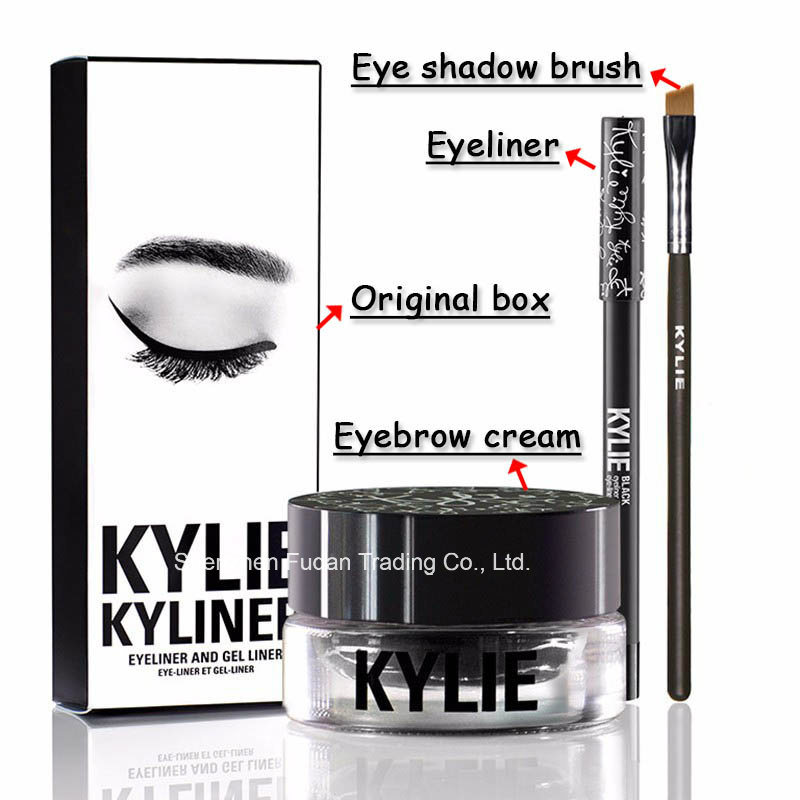 Cosmetics Kylie Kyliner Including an eyeliner brush an eyebrow cream Three-piece